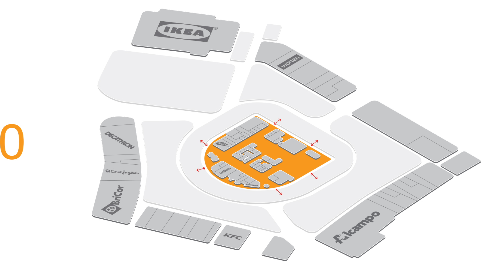 LUZ Shopping, Jerez, centre plan, ground floor