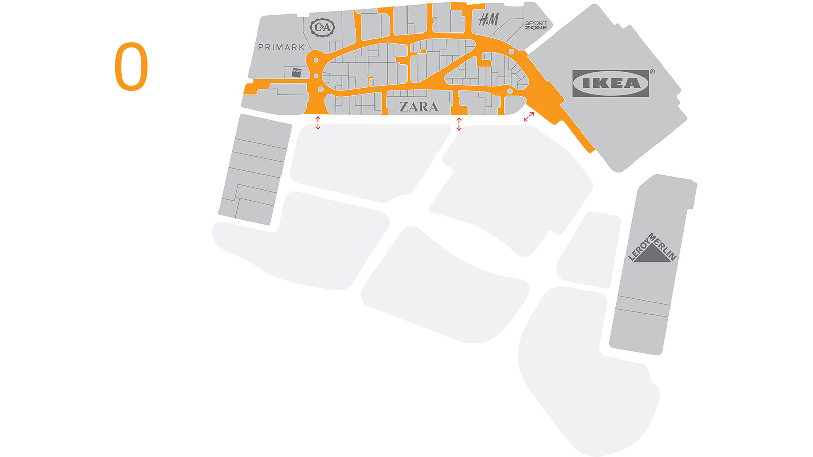 RÍO Shopping, Valladolid,centre plan, ground floor