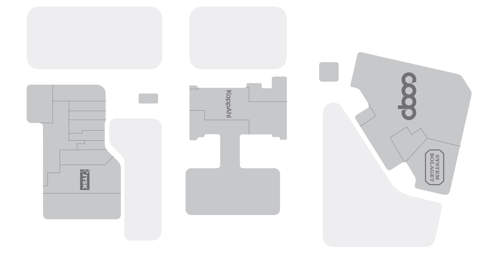 Kållered shoppingpark floorplan